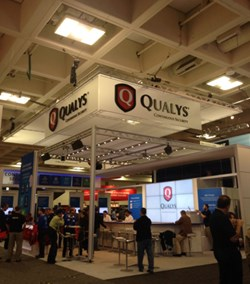The Qualys booth at this year's RSA Conference in San Francisco