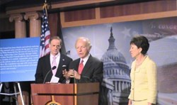 (from left) Carper, Lieberman, and Collins (Image courtesy of Senate Committee on Homeland Security & Governmental Affairs)