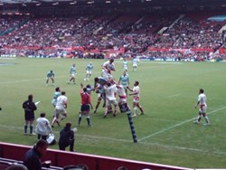 The England rugby squad share data and match videos on PDAs