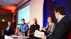 Infosecurity Europe 2014 SCADA panel: left to right Barrie Miller, E.ON, Trey Ford, Rapid7, Sean Newman, Cisco, Donna Dodson, NIST, Jean-Noel Georges, Frost & Sullivan