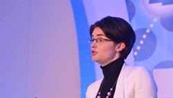 Chloe Smith, Minister for Political and Constitutional Reform, delivering the opening keynote at this year's Infosecurity Europe
