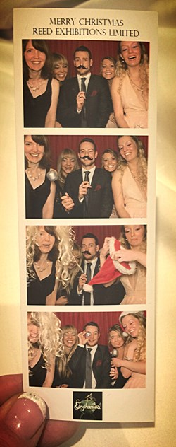 December 2014: With just a few of my colleagues at the work xmas party