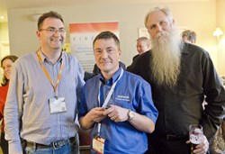 Jack Daniel (right) with Brian Honan (left) at the European Bloggers Award 2014. Photograph supplied by awards sponsor, Infosecurity Europe