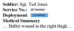 Figure 1: Redacted view of a medical document