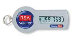 RSA's SecurID tokens, with their red and blue color scheme, are very iconic