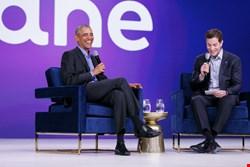 President Obama on stage with Okta CEO Todd McKinnon in Las Vegas