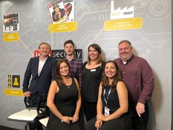 The Infosecurity Magazine Team, from left to right: James Ingram, Michael Hill, Becca Harper, Dan Raywood, Eleanor Dallaway, Karina Gomez