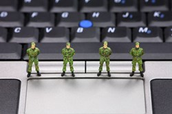 Taiwan's National Security Bureau said that the Chinese government continues to target its assets, and has extended its cyber-army to more than 100,000 people
