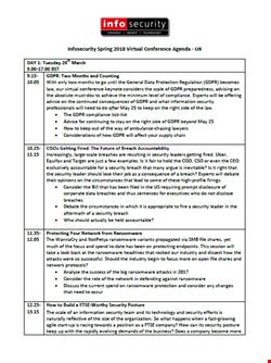 Spring 2018 Virtual Conference Agenda