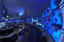 The view from inside AT&T's Global Network Operations Center (Image provided by AT&T)