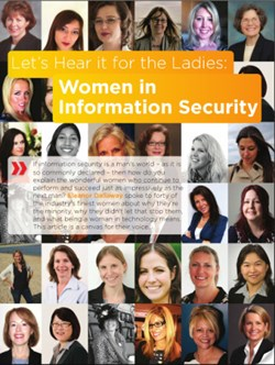 The front cover of the Women in Information Security article printed in Q4 issue Infosecurity Magazine