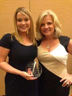 October 2013: Winning the EWF 'woman of influence' award