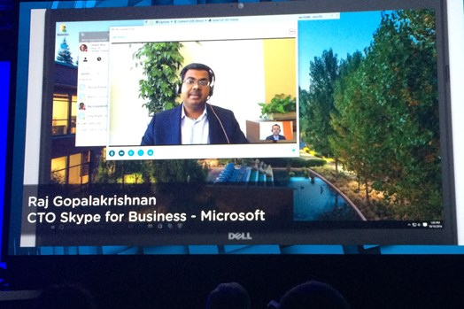 Live demo showing VMware & Microsoft Skype for Business collaboration in action