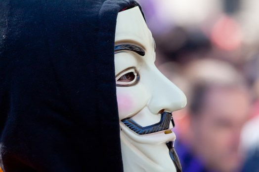 Hacktivist groups such as Anonymous often attack targets with DDoS campaigns