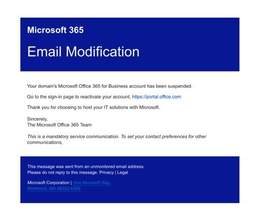 Email modification